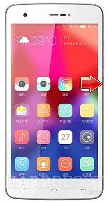 Hard Reset GIONEE GN715