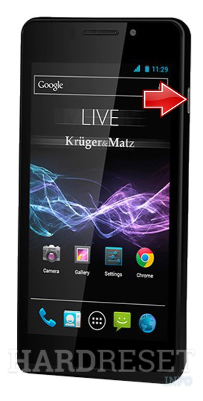 Remove screen password on KRUGER & MATZ Live