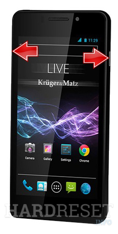 Remove Screen Lock on KRUGER & MATZ Live