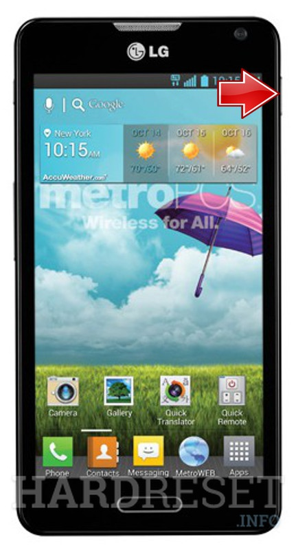 Emergency Mode LG MS500 Optimus F6 - HardReset info