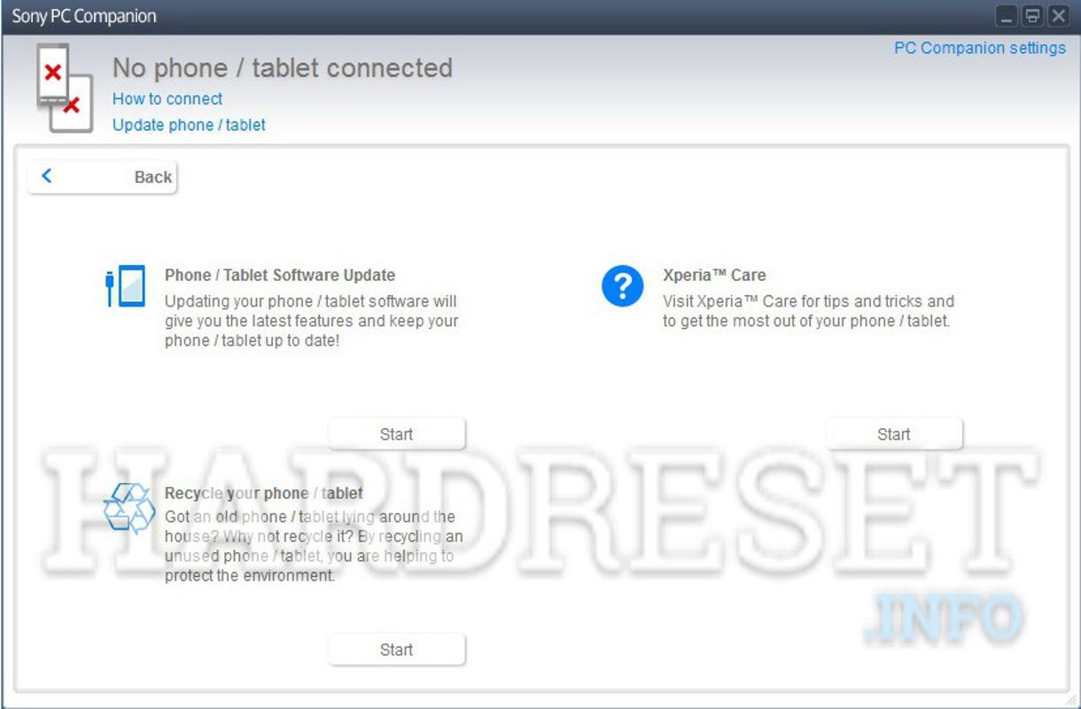 Factory Reset SONY Xperia M C1905 - HardReset info