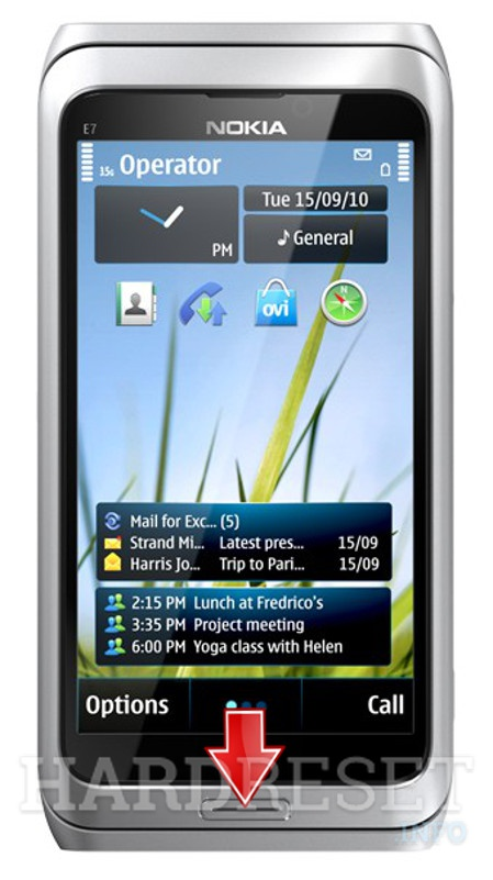 Factory Reset NOKIA E7 Communicator
