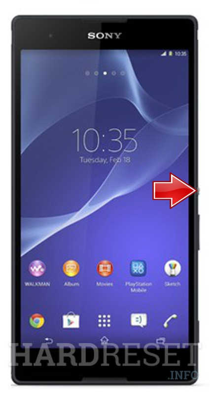 Hard Reset SONY Xperia T2 Ultra D5303