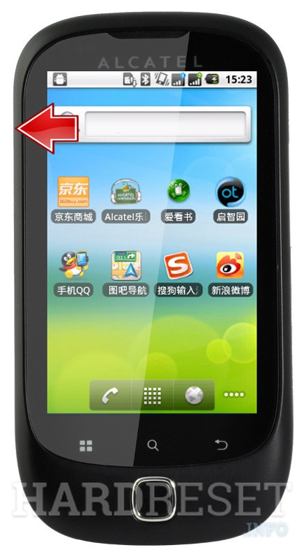 Hard Reset ALCATEL OT-927