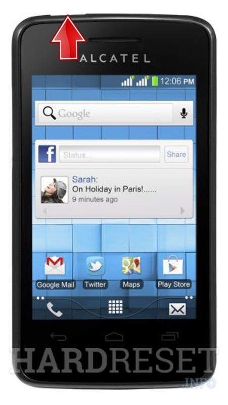 Hard Reset ALCATEL One Touch 4007X Pixi