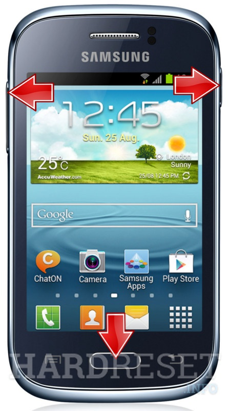 HardReset SAMSUNG S6310L Galaxy Young