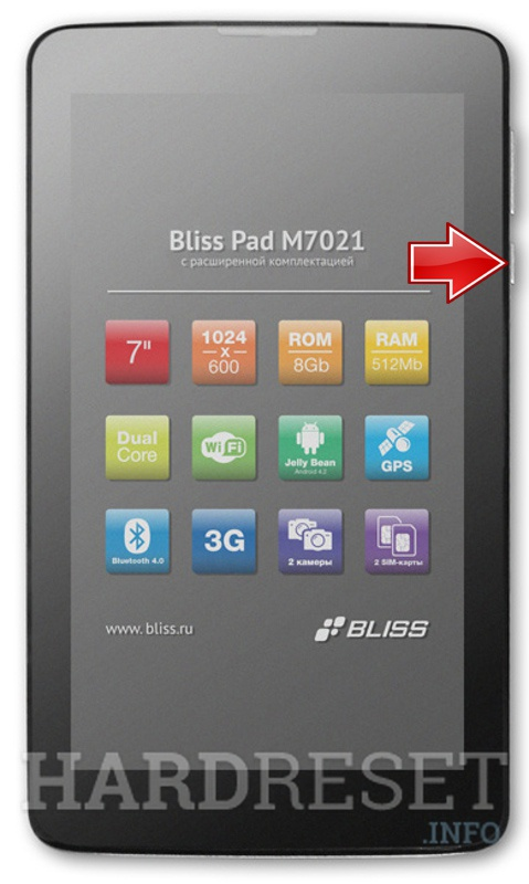 Hard Reset BLISS Pad M7021
