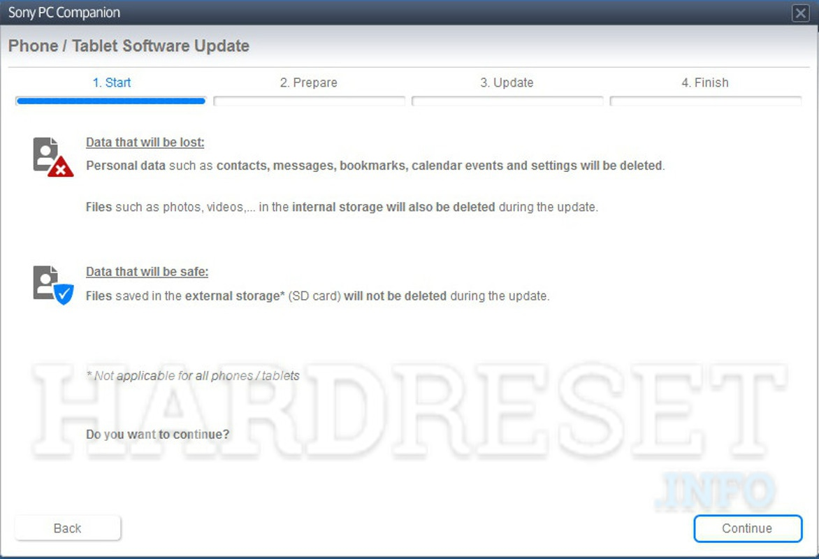 Restore SONY Xperia Tablet S