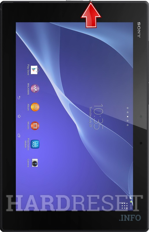 Hard Reset SONY Xperia Tablet Z2 WiFi