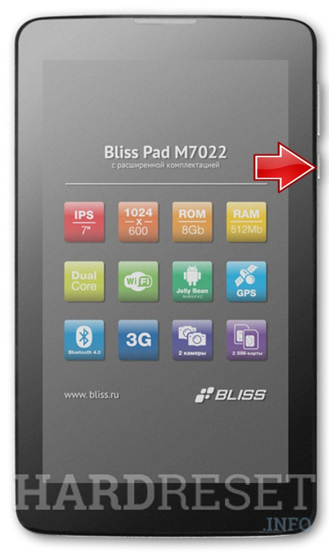 Factory Reset BLISS Pad M7022