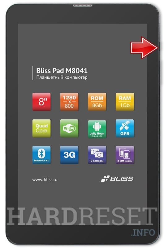 Hard Reset BLISS Pad M8041