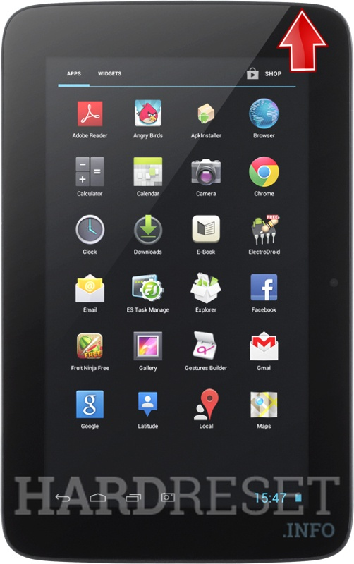 Hard Reset KRUGER & MATZ Tablet 7
