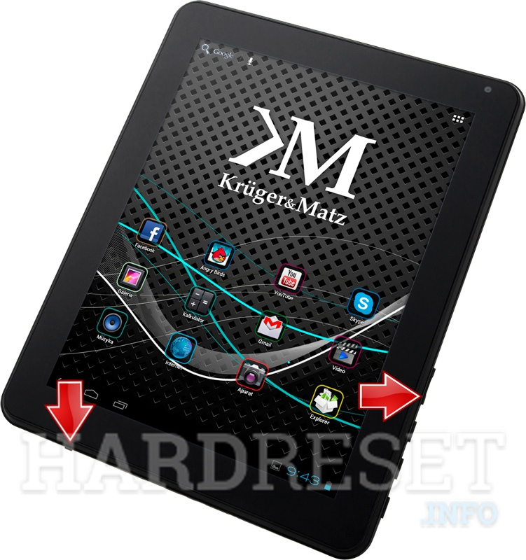 HardReset KRUGER & MATZ Tablet PC 9.7