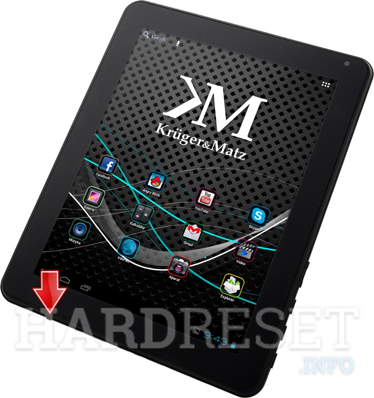 Hard Reset KRUGER & MATZ Tablet PC 9.7