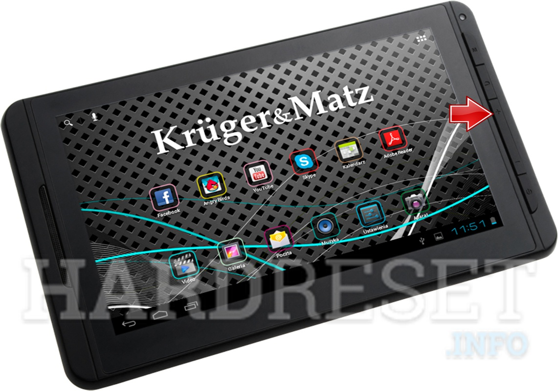 Format KRUGER & MATZ Tablet PC 7