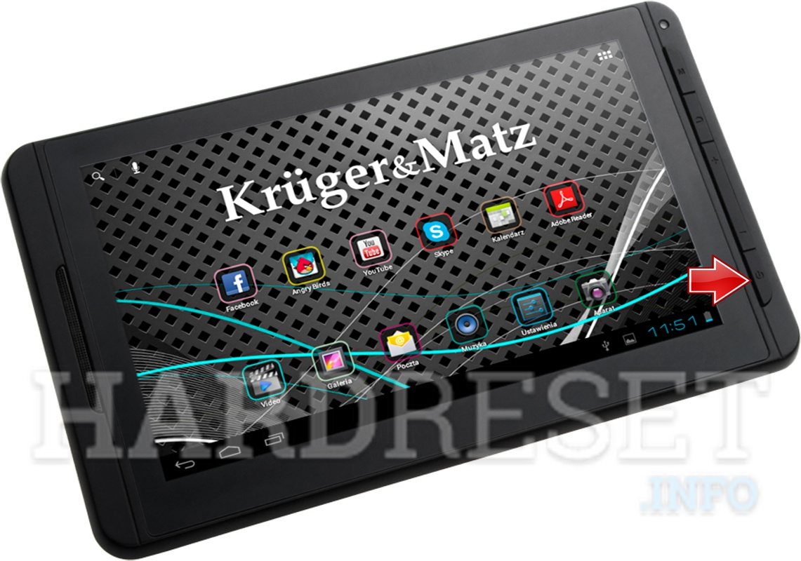 Factory Reset KRUGER & MATZ Tablet PC 7