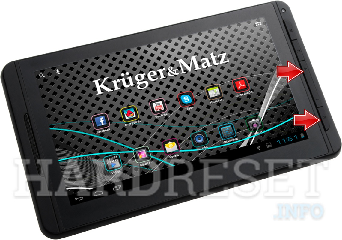 HardReset KRUGER & MATZ Tablet PC 7