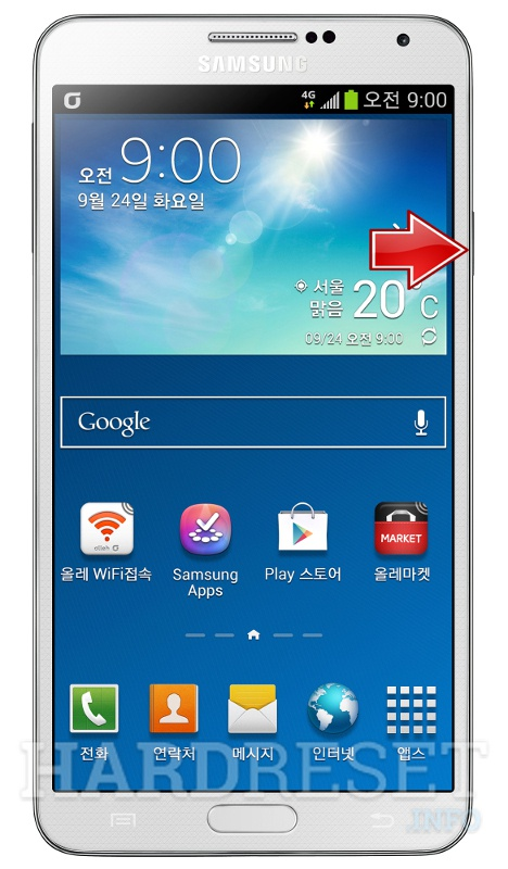 Hard Reset SAMSUNG N900K Galaxy Note 3