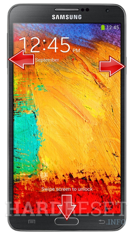 Factory Reset SAMSUNG N900 Galaxy Note 3
