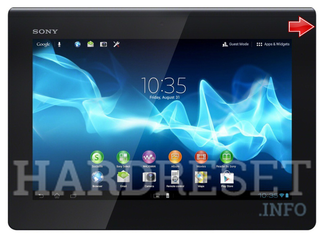 Hard Reset SONY Xperia Tablet S 3G