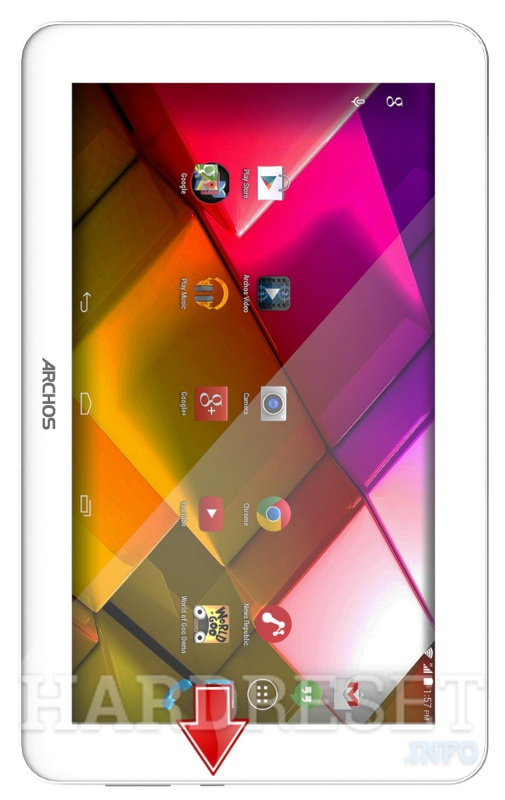 Hard Reset ARCHOS 90 Copper