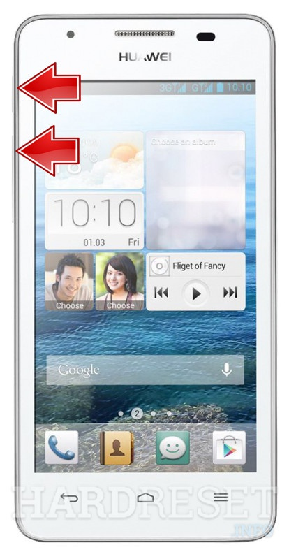 Format HUAWEI Ascend G525