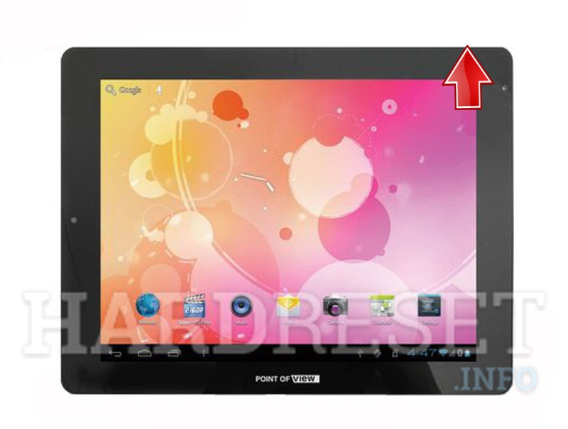 Permanently delete data from POINT OF VIEW ProTab 3 IPS 9.7