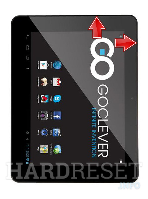 HardReset GOCLEVER Tab R974