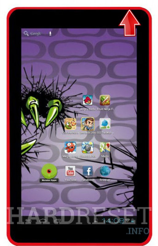 Hard Reset EASYPIX MonsterPad Red Ninja Dual Core