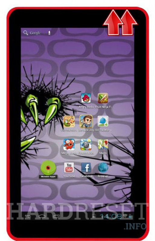 HardReset EASYPIX MonsterPad Red Ninja Dual Core