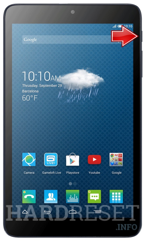 Hard Reset ALCATEL One Touch Pixi 3 (8) 3G LATAM
