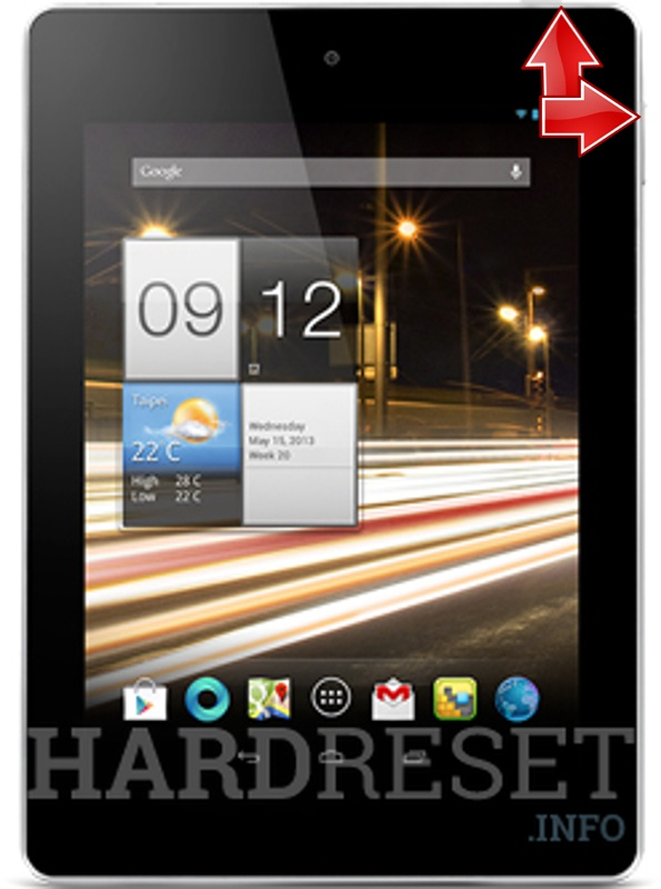 HardReset ACER A1-811 Iconia Tab