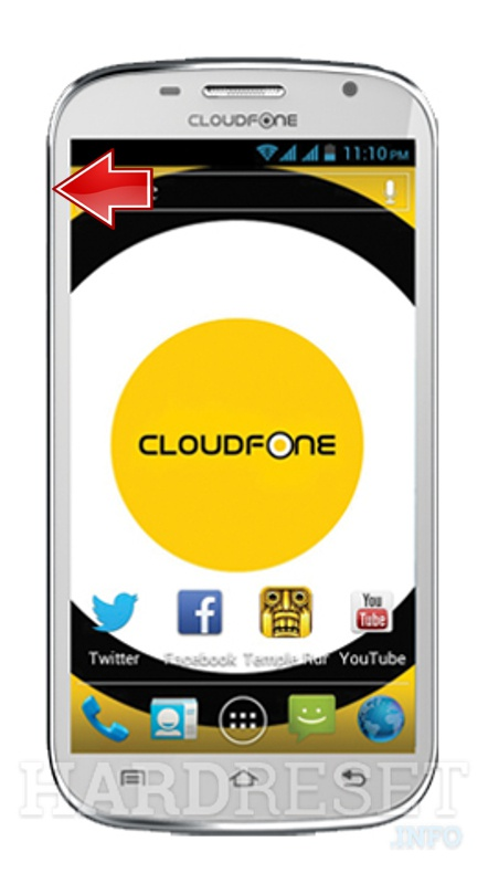 Master Reset CLOUDFONE Excite 501D