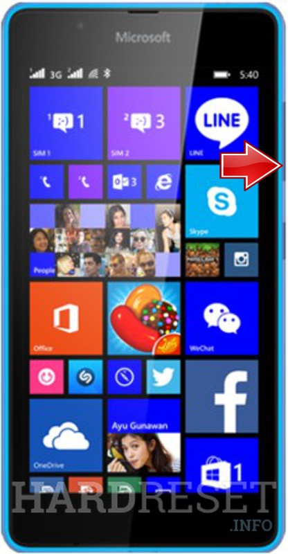 Remove screen password on MICROSOFT Lumia 540 Dual SIM