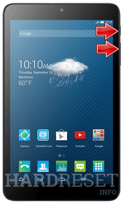 HardReset ALCATEL One Touch Pixi 3 (8) 3G EMEA