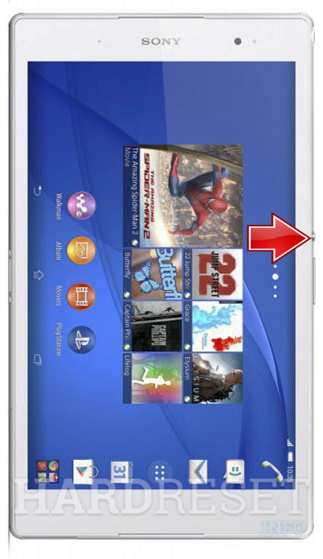 Wipe data on SONY SGP612CE Xperia Z3 Tablet Compact