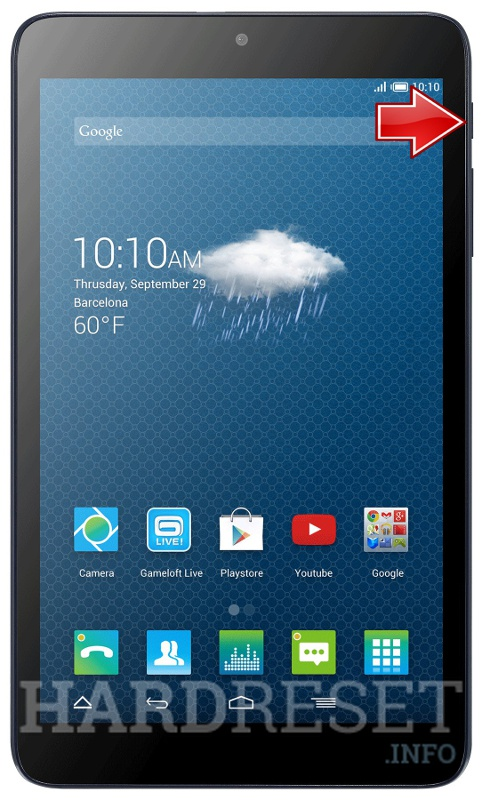 Hard Reset ALCATEL One Touch Pixi 3 (8) 3G EMEA