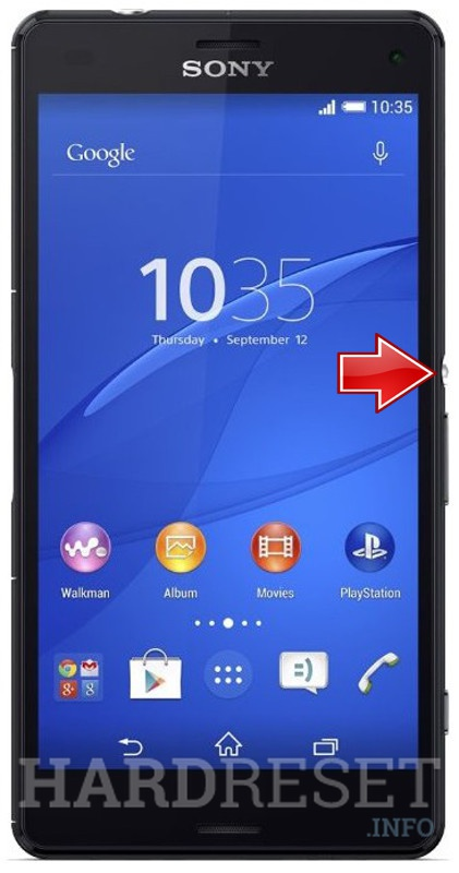 Hard Reset SONY Xperia Z3 Compact D5803