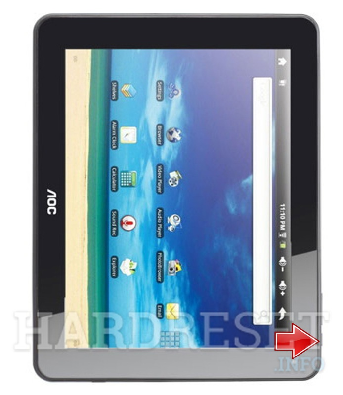 Hard Reset AOC MG97DR-16 Breeze Tab 9.7