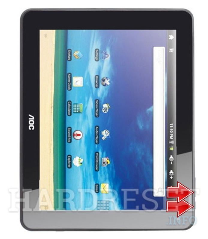 HardReset AOC MG97DR-16 Breeze Tab 9.7