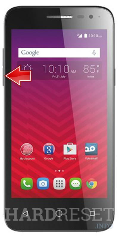 Master Reset ALCATEL OneTouch Elevate