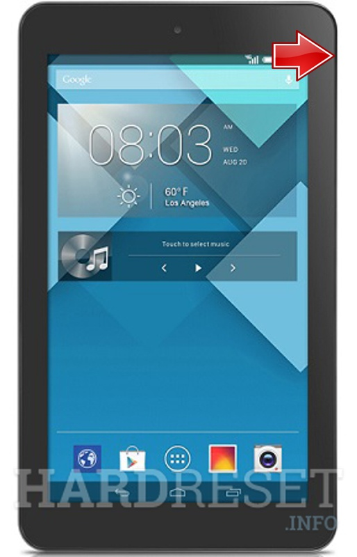 Hard Reset ALCATEL P310 One Touch Pop 7