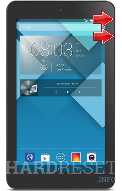 HardReset ALCATEL P310 One Touch POP 7