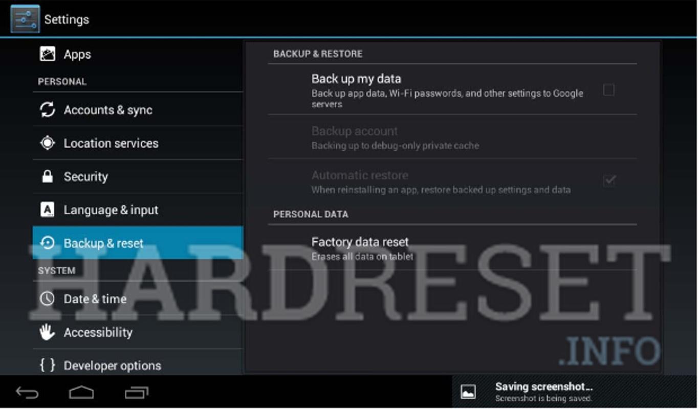 Hard Reset EMATIC EGS004 - HardReset info