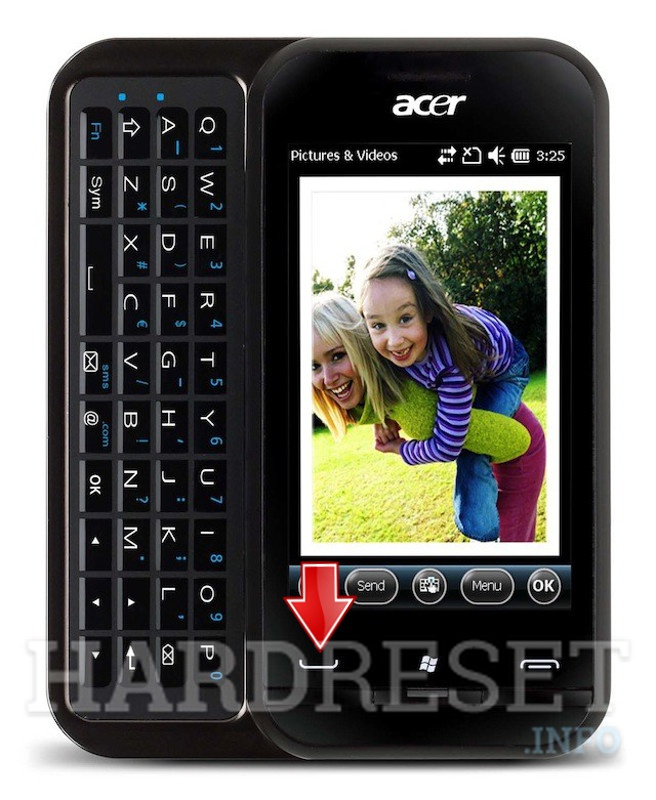 Master Reset ACER P300 neoTouch