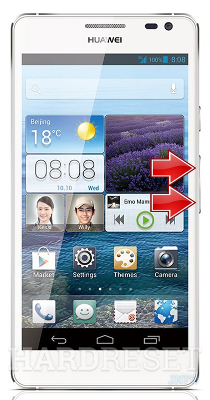 Wipe data on HUAWEI Ascend D2