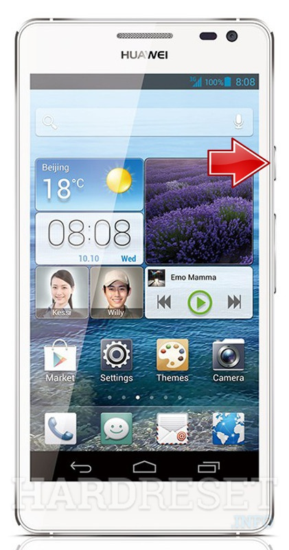 Hard Reset HUAWEI Ascend D2