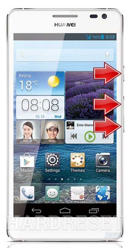 Master Reset HUAWEI Ascend D2