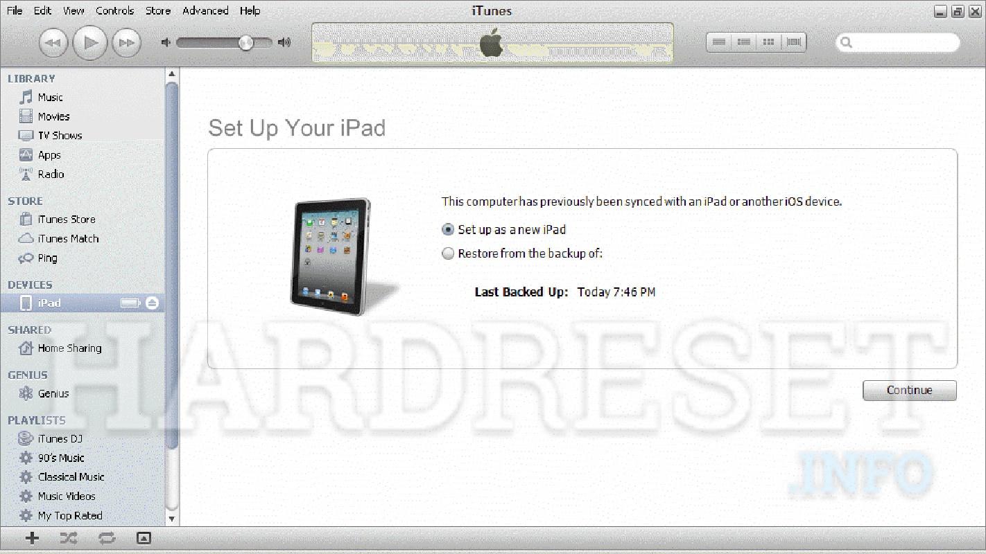 Factory Reset APPLE iPad mini 4 Wi-Fi - HardReset info