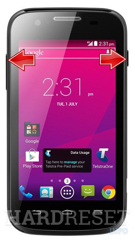 HardReset ZTE Telstra Evolution T80